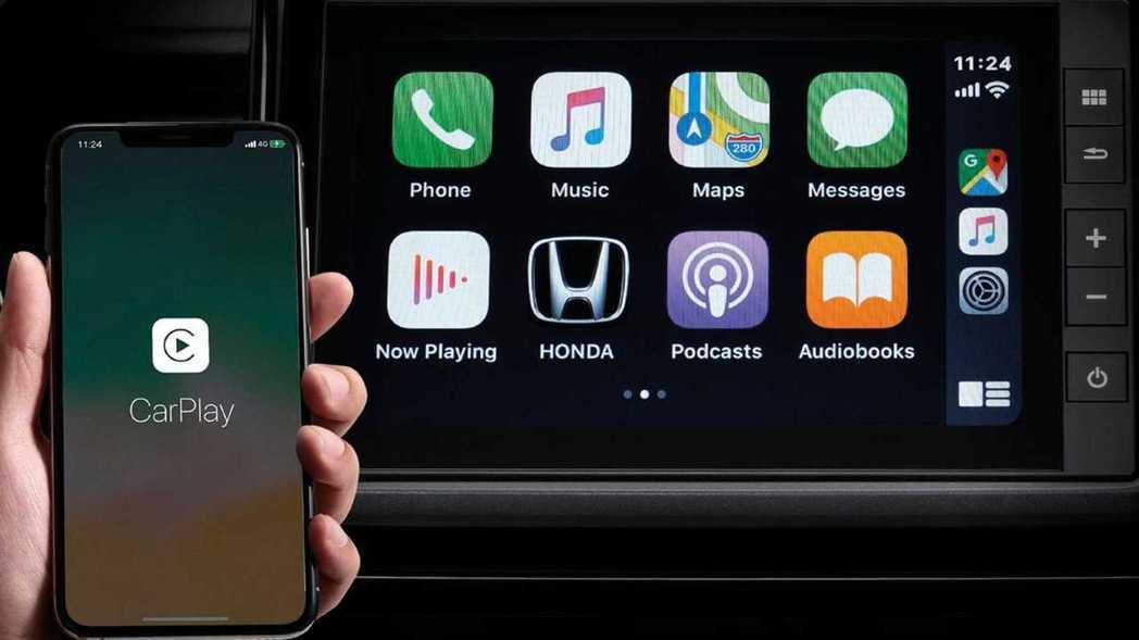 支援 Apple CarPlay手機連結。 圖/Honda Thailand提供