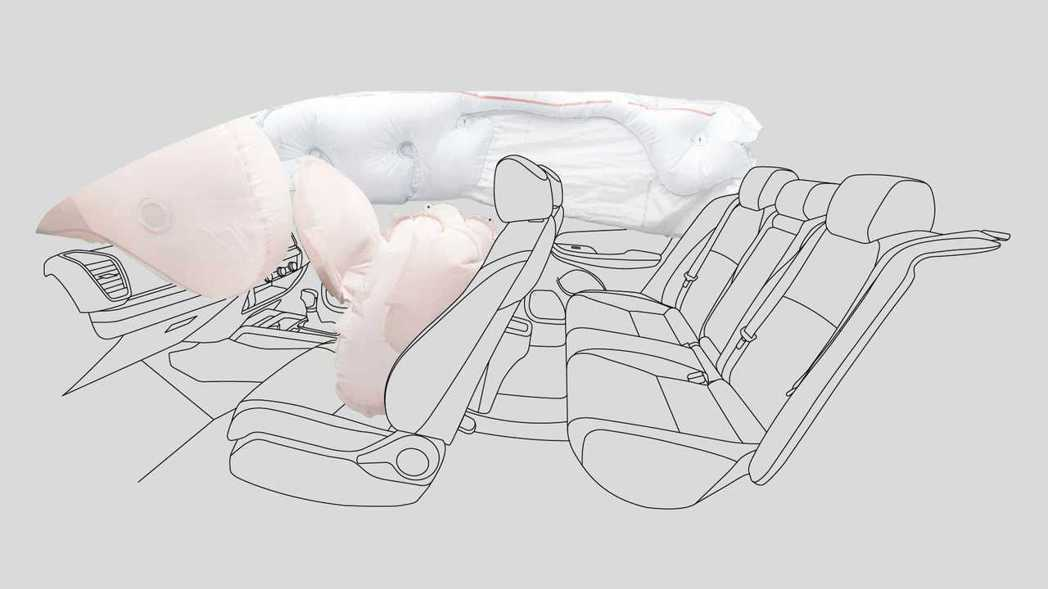 City Hatchback標配六具安全氣囊。 圖/Honda Thailand...