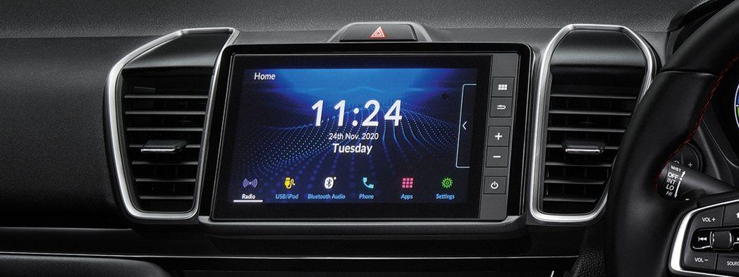 8吋Advanced Touch車載中控螢幕。 圖/Honda Thailand...