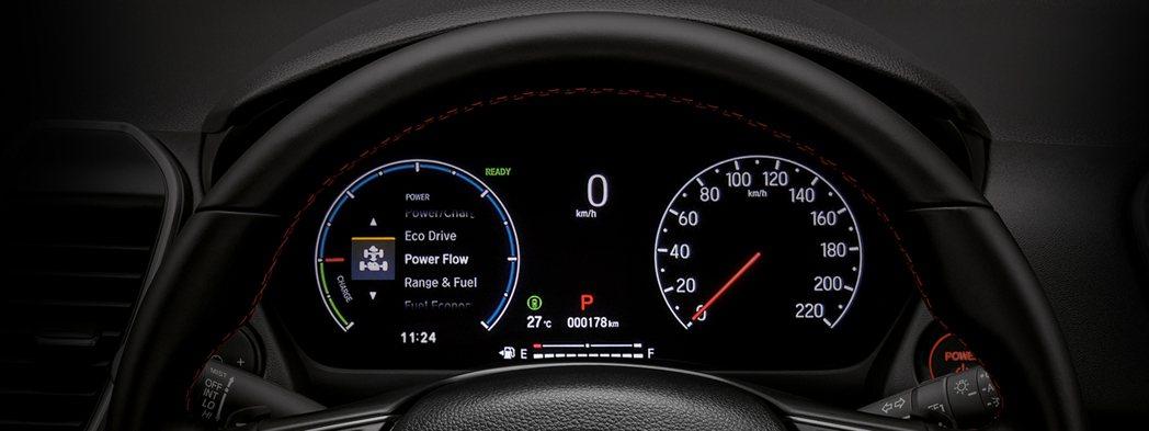 全新的7吋TFT儀表版。 圖/Honda Thailand提供