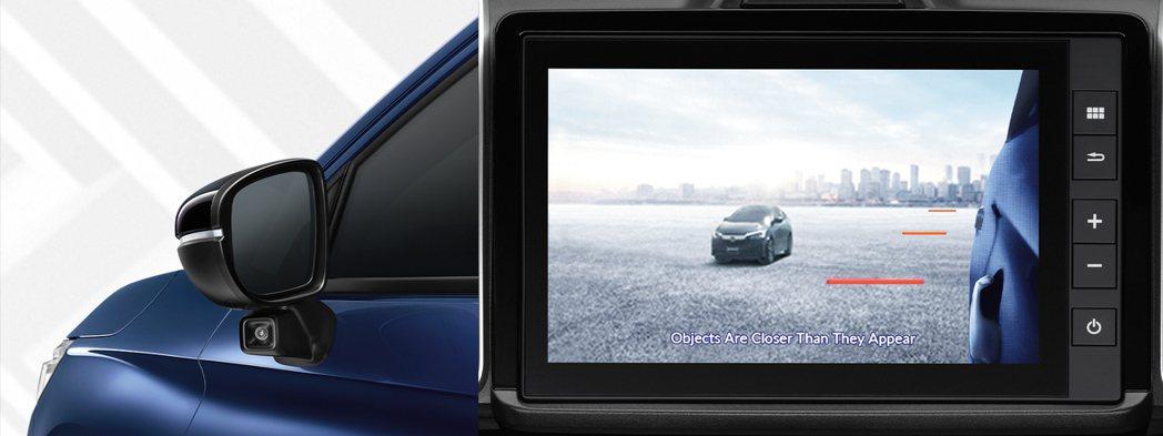 照鏡車側鏡頭也可傳遞後方盲點影像至螢幕。 圖/Honda Thailand提供