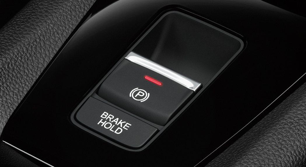 City e:HEV配備電子手煞車/Auto Hold。 圖/Honda Tha...