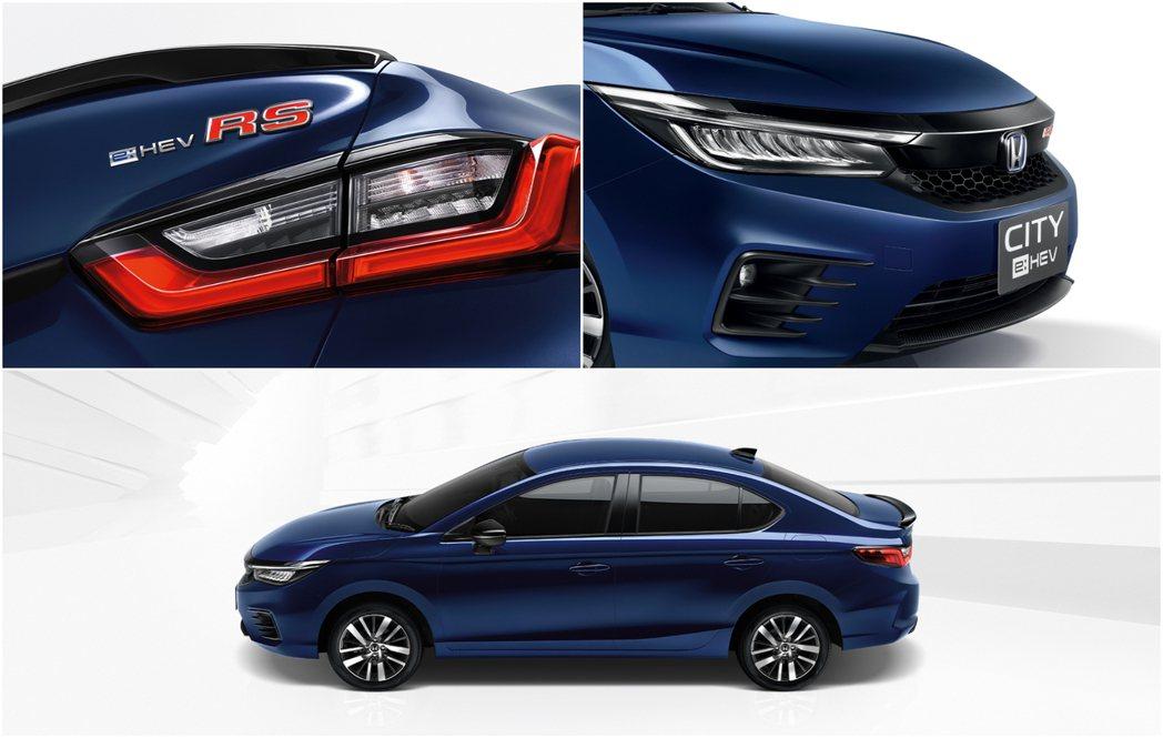 City e:HEV Sedan僅有單一RS車型,多了運動化的套件妝點。 圖/H...