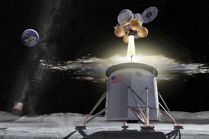 阿提米絲協議是由美國NASA主導的太空行為準則,立基於1967年的《外太空條約》。圖為阿提米絲計畫模擬圖。 圖/美聯社