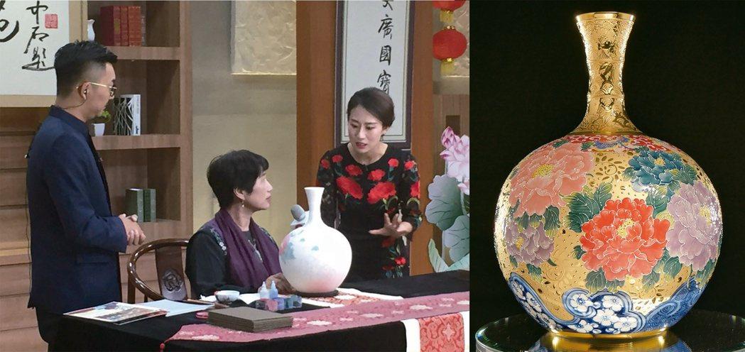 張美雲老師在「國寶苑」,現場展演法華工藝。