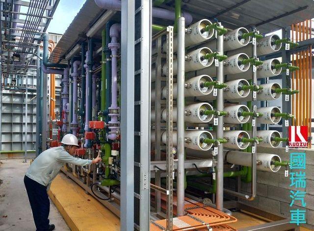 國瑞汽車的廢水回收設備-RO逆滲透系統。 工業局/提供