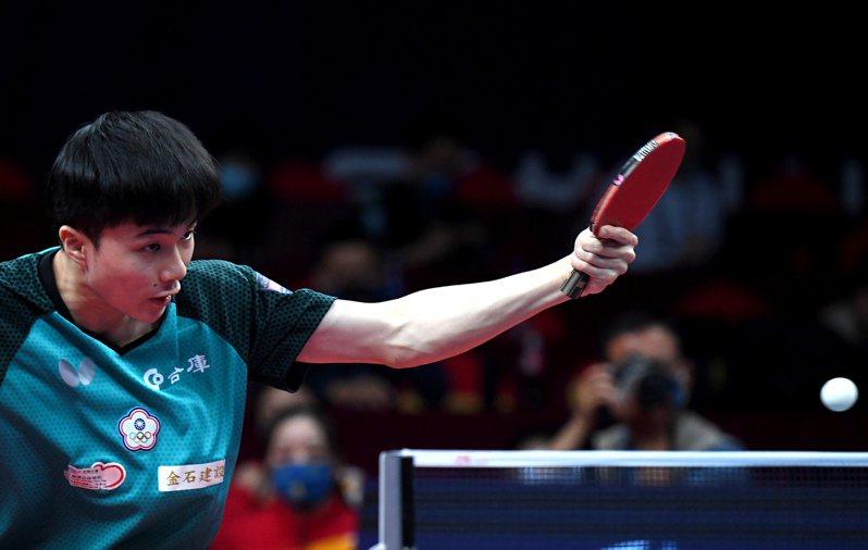 台灣桌球一哥林昀儒。 新華社