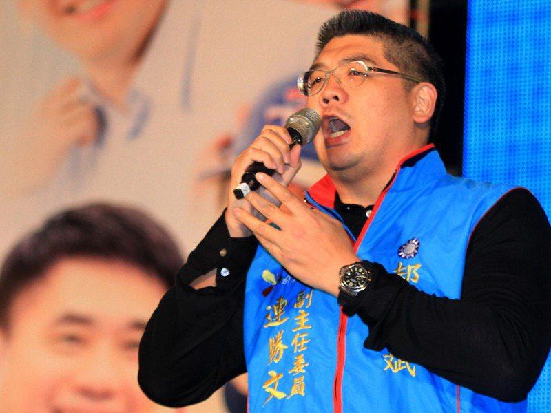 連勝文被槍擊前,出席台北市候選人郝龍斌的選前之夜。圖/聯合報系資料照片