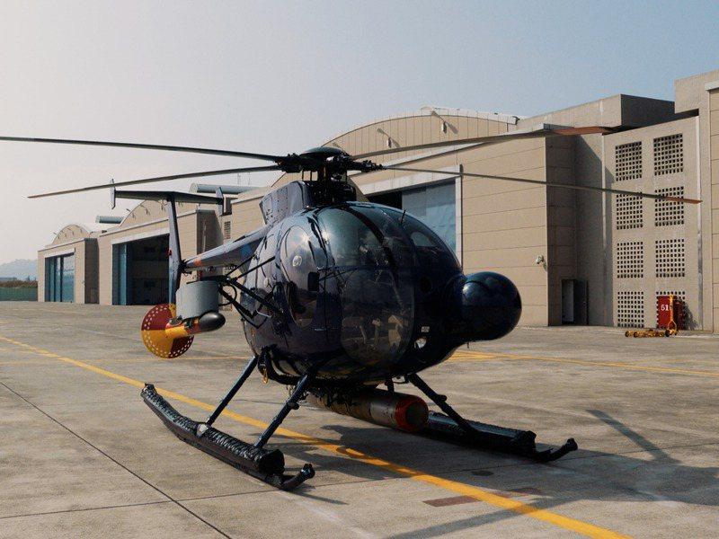海軍的500MD/ASW服役已滿40年,仍是全球最小的反潛直升機。記者石偉民/攝影