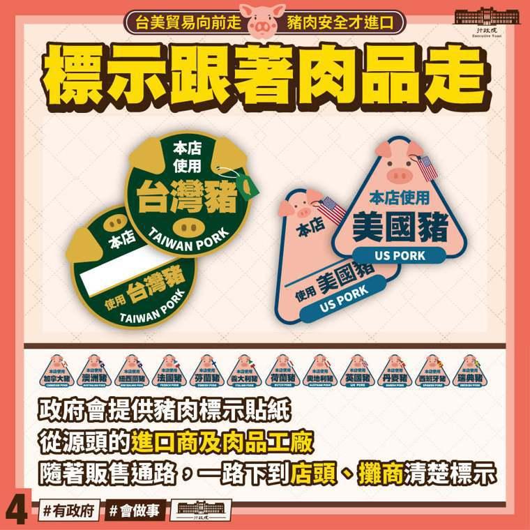 行政院長蘇貞昌分享圖片,說明「進口豬肉之全方位管理措施」五大原則。取自蘇貞昌臉書...