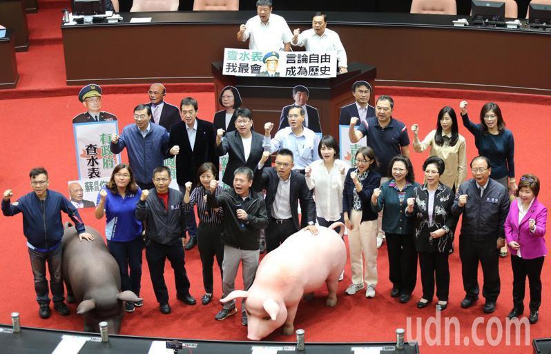 為了萊豬議題,國民黨團數度杯葛蘇貞昌施政報告。本報資料照片