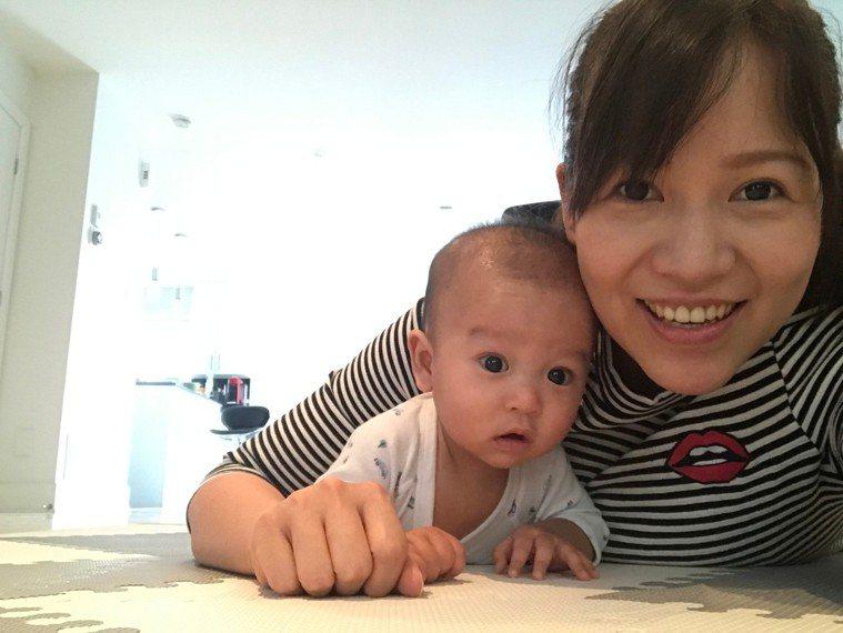 莊小姐於2020年順利產下一子。圖/北榮提供