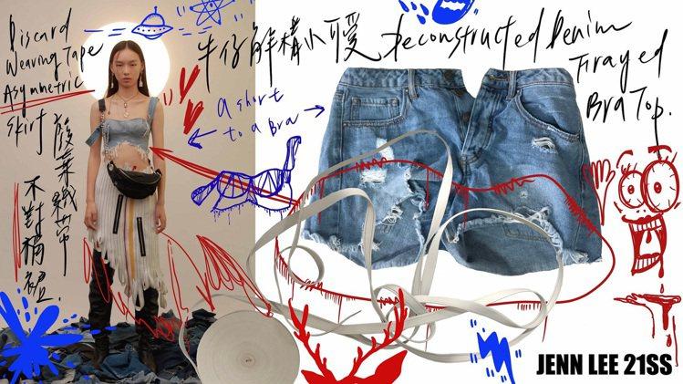現場的15件服裝都可透過掃描QR Code了解服裝來源、製程。圖/JENN LE...