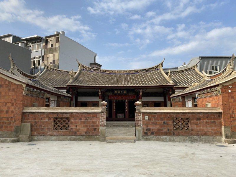上百年歷史的新埔張氏家廟整修後,將成為縣內第1座以宗祠家廟為主題的兒童故事屋。圖/縣府提供