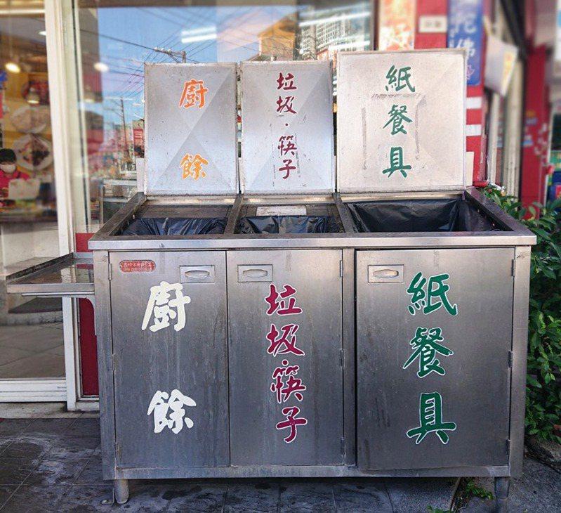 中市環保局即日起至12月15日,受理自助餐與便當店業者申請設回收設施補助。圖/台中市環保局提供