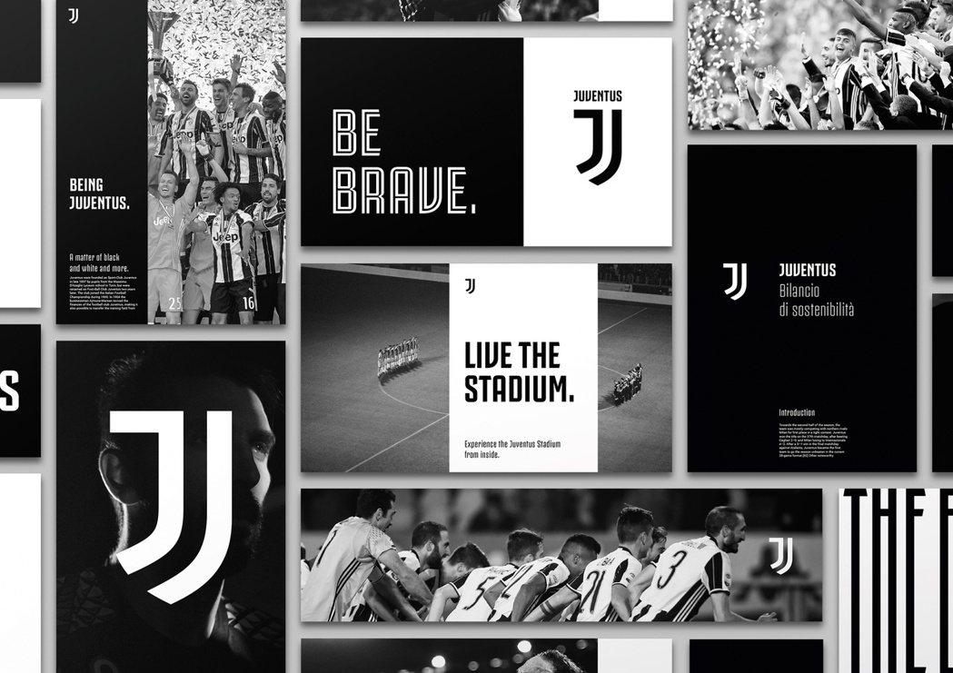 2017年,義大利尤文圖斯足球俱樂部更換新Logo,以黑白色調打造全新的品牌字母...