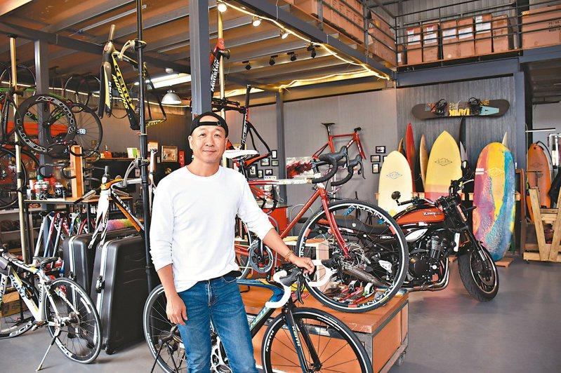 呂國璽成立KEITH品牌,設計「倒三角」自行車架獲德國IF產品設計獎。記者王思慧/攝影