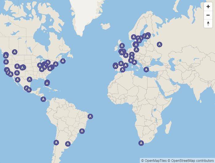 今年獲得A等級的88個城市 圖/環境資訊中心