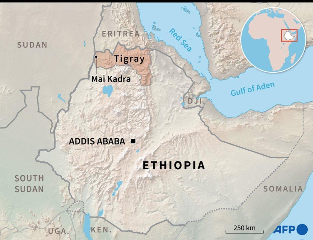 在提格雷州鄰近蘇丹的邊境城鎮——邁卡德拉(Mai-Kadra)發生大屠殺事件,至...