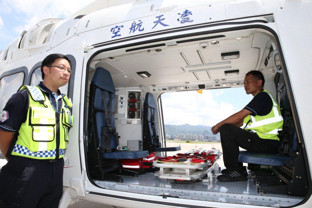 凌天航空AW169直升機,投入澎湖與馬祖的緊急醫療後送服務。 圖/聯合報系資料照