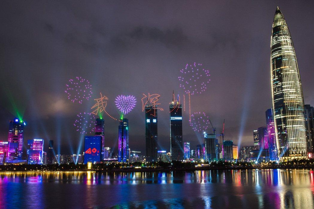 深圳為中國改革開放時期的成功顯例。 圖/新華社