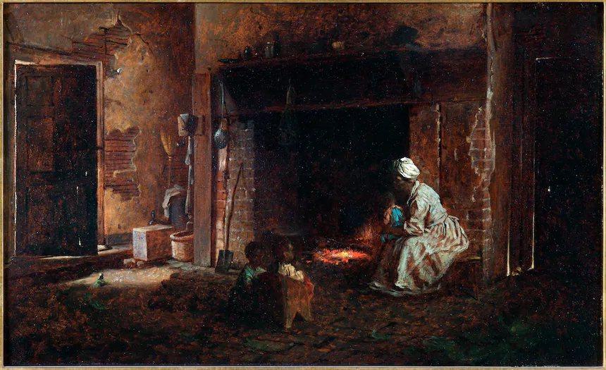 圖為維農山莊博物館收藏的1864年畫像,華盛頓的廚房。 圖/維農山莊博物館