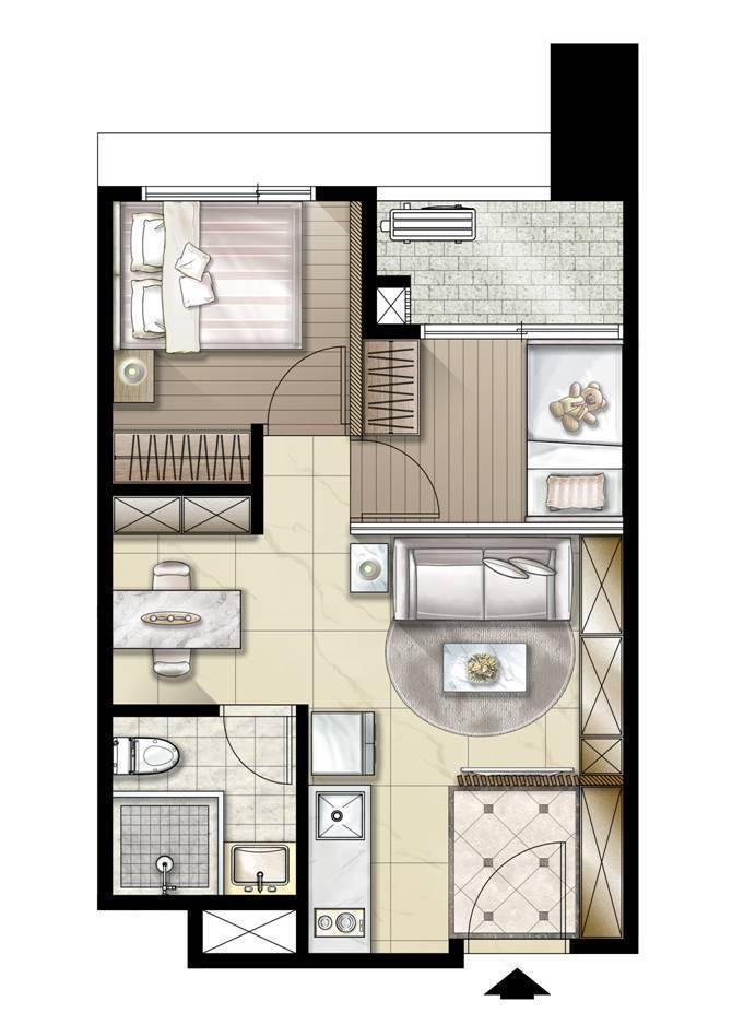最受首購客歡迎的19坪,可以自行隔成兩房兩廳,新婚夫妻可規劃嬰兒房使用,CP值高...