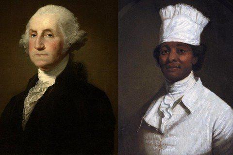 華盛頓(左)與他的黑人特廚波西(右)。第一家庭為何聘用黑奴做主廚?波西的廚藝如何...