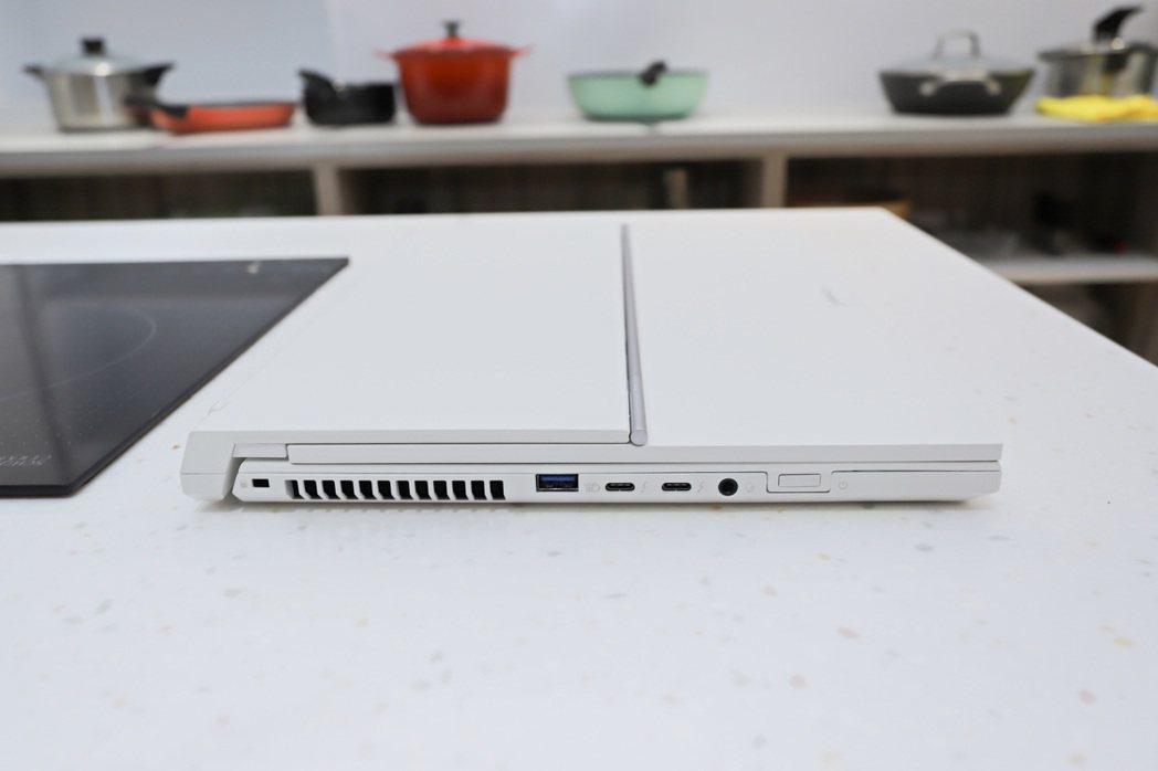 ConceptD 7 Ezel Pro右側。 彭子豪/攝影