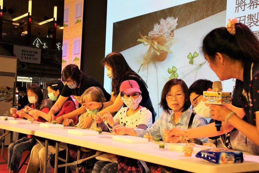 水晶花DIY教學。 北分署/提供。