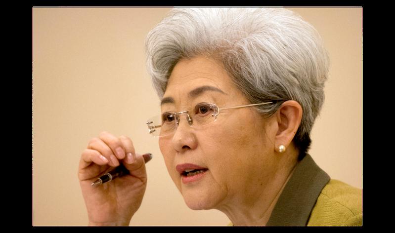 大陸外交部前副部長、全國人民代表大會外事委員會副主任委員傅瑩。美聯社