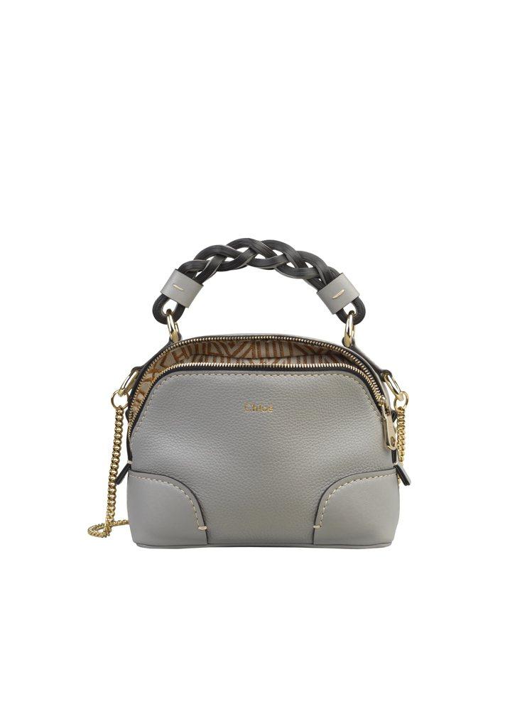 Chloé Daria迷你灰藍色肩背手提兩用包,47,300元。圖/Chloé提...