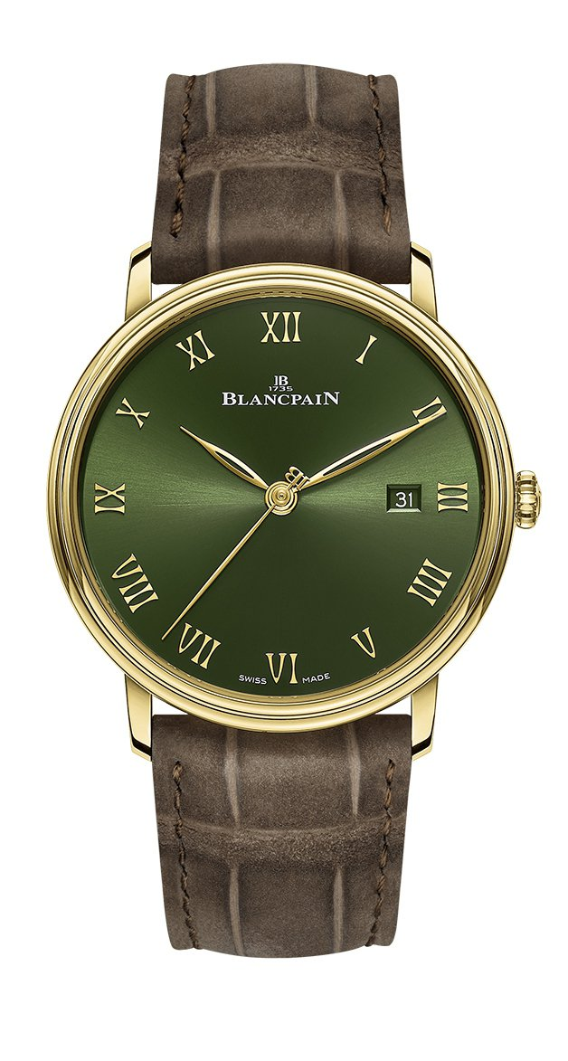 Blancpain Villeret超薄腕表,18K黃金、自動上鍊機芯、時間顯示...