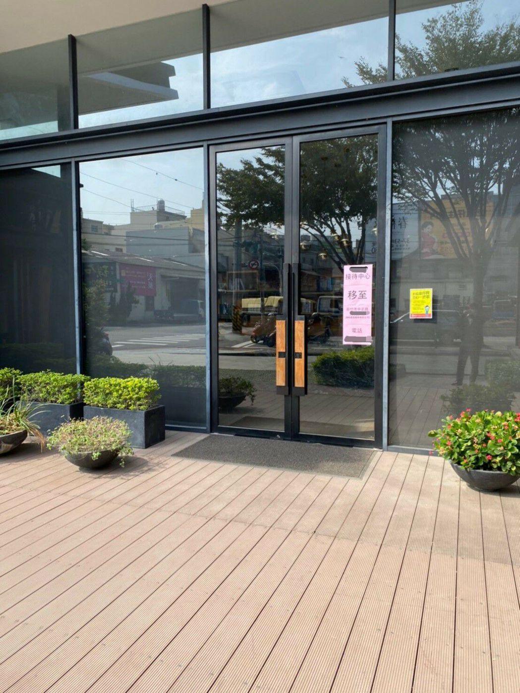 某建案銷售中心因未取得建築許可遭停止使用。圖/內政部提供