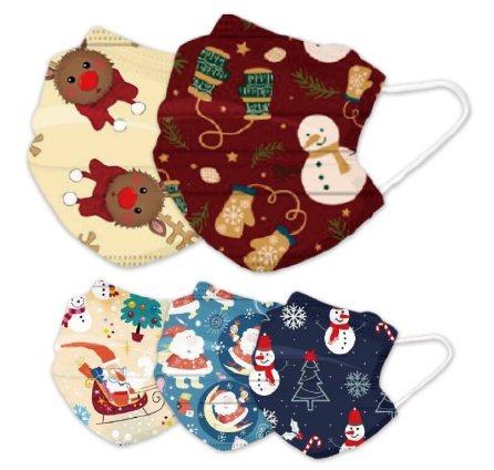 松果購物推出「耶誕節綜合款口罩」共有5款綜合圖案,一盒50入原價999元、特價3...