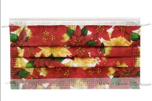 松果購物推出「艾司鉄克三層防護口罩」耶誕紅款,一盒10入原價299元、特價199...