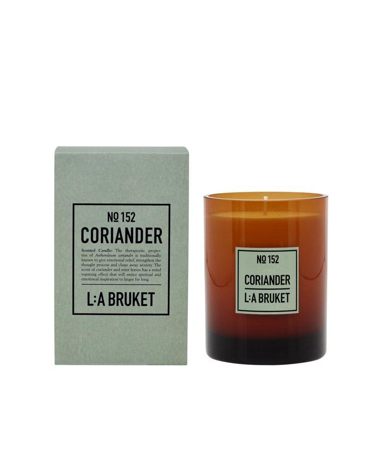 L:A BRUKET限量香氛蠟燭香菜/260g/2,300元。圖/L:A BRU...