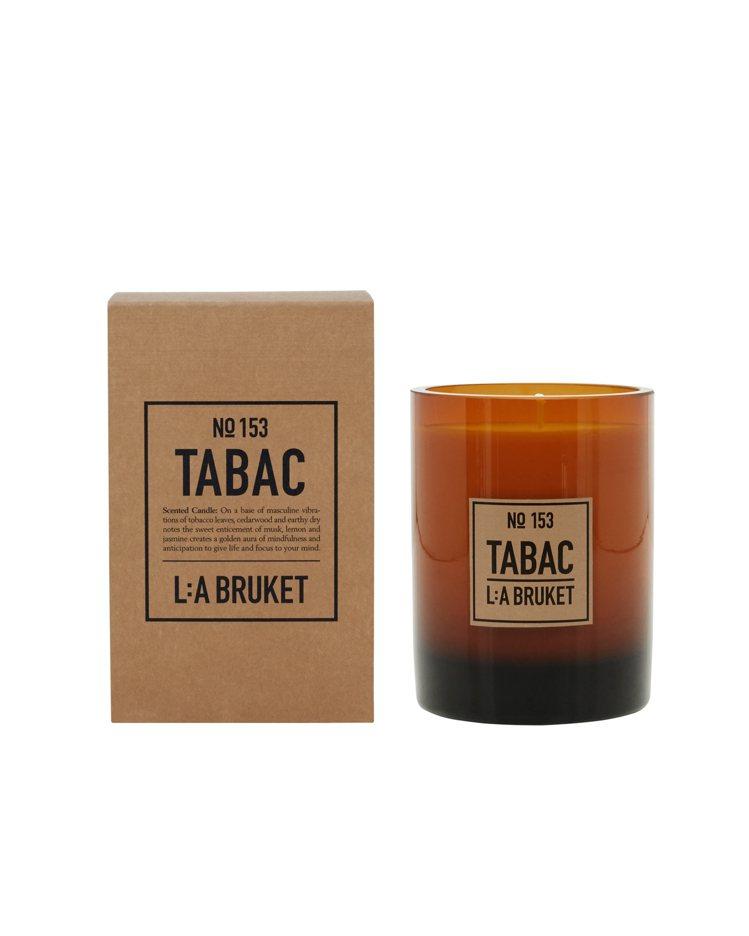 L:A BRUKET限量香氛蠟燭菸草/260g/2,300元。圖/L:A BRU...