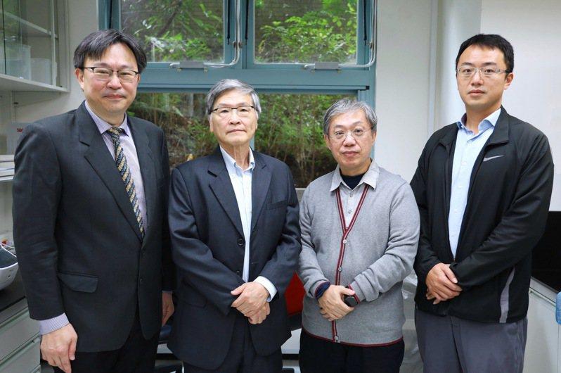 研究團隊左起邱士華教授、黃自強教授、何國牟教授與周士傑助理研究員。圖/陽明大學提供