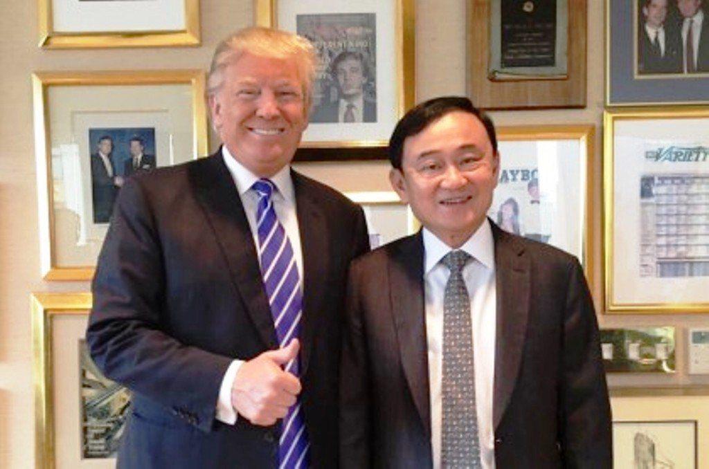 美國總統川普與泰國前總理塔信(右)有許多相似之處。網路照片