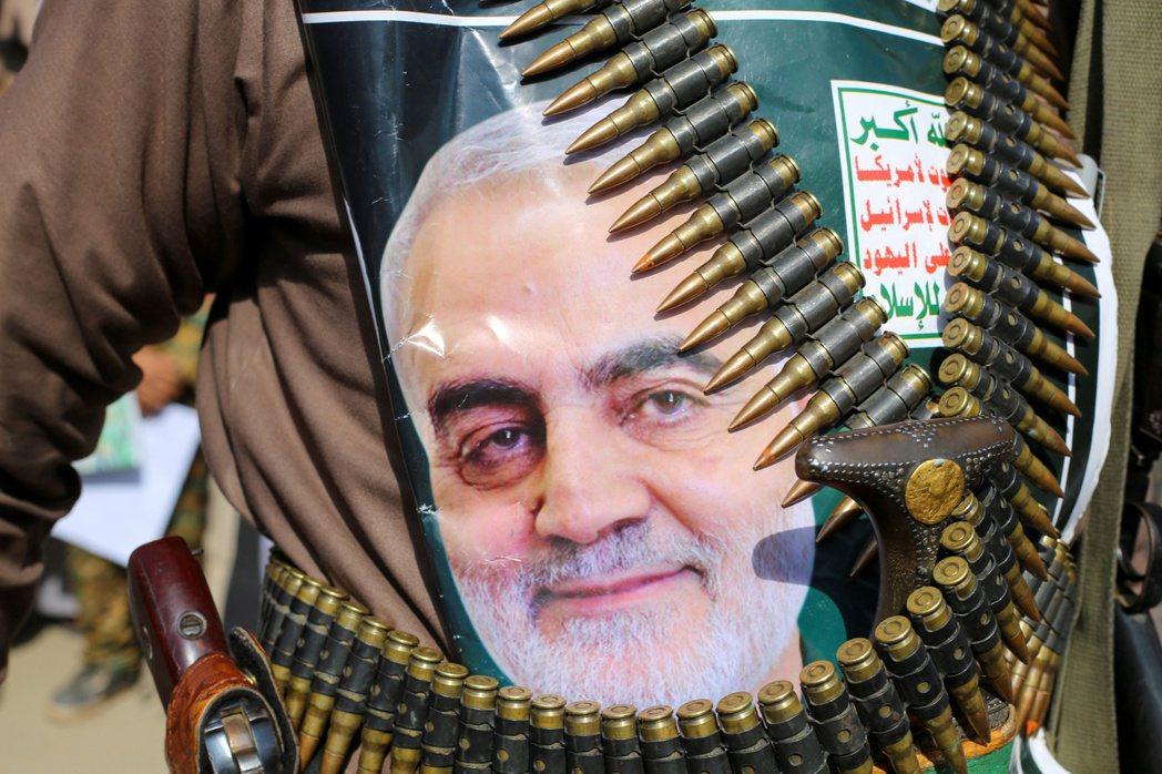 年初才被川普下令轟斃於伊拉克的革命衛隊「聖城旅」指揮官蘇萊曼尼。 圖/路透社
