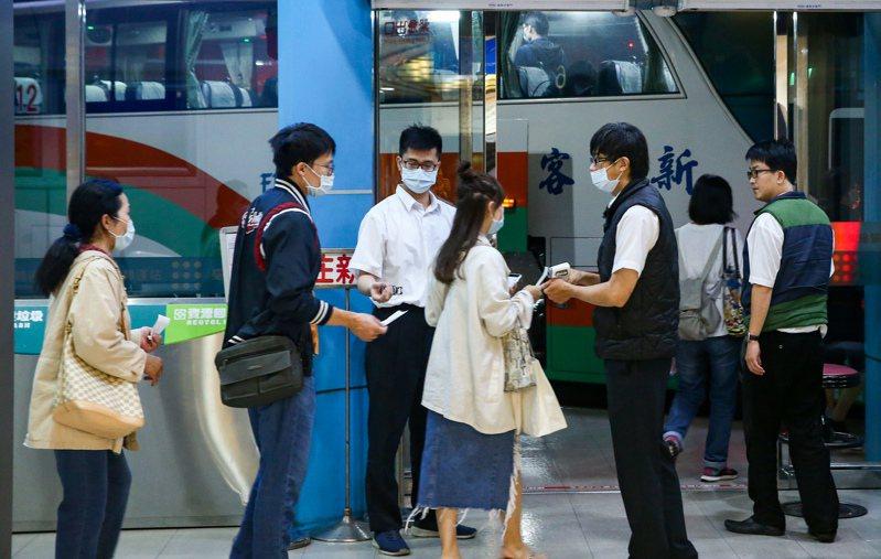 交通部公路總局公布元旦連假疏運,圖為乘坐國道客運旅客示意圖。記者曾原信攝影/報系資料照