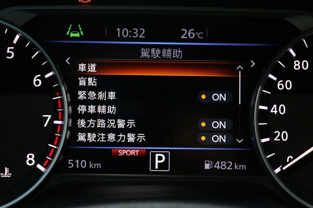 主動安全應有盡有但獨缺ICC全速域跟車系統。 記者陳威任/攝影