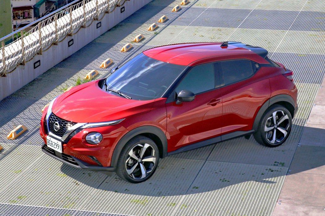 Nissan Juke駕趣享樂版,售價98.9萬起。 記者陳威任/攝影