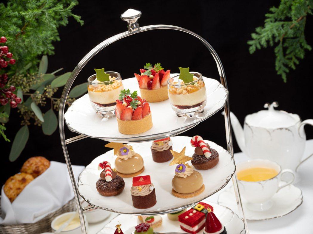 季節限定的下午茶美點融合歡樂的耶誕節慶元素與時令風味,令人愛不適口。業者/提供