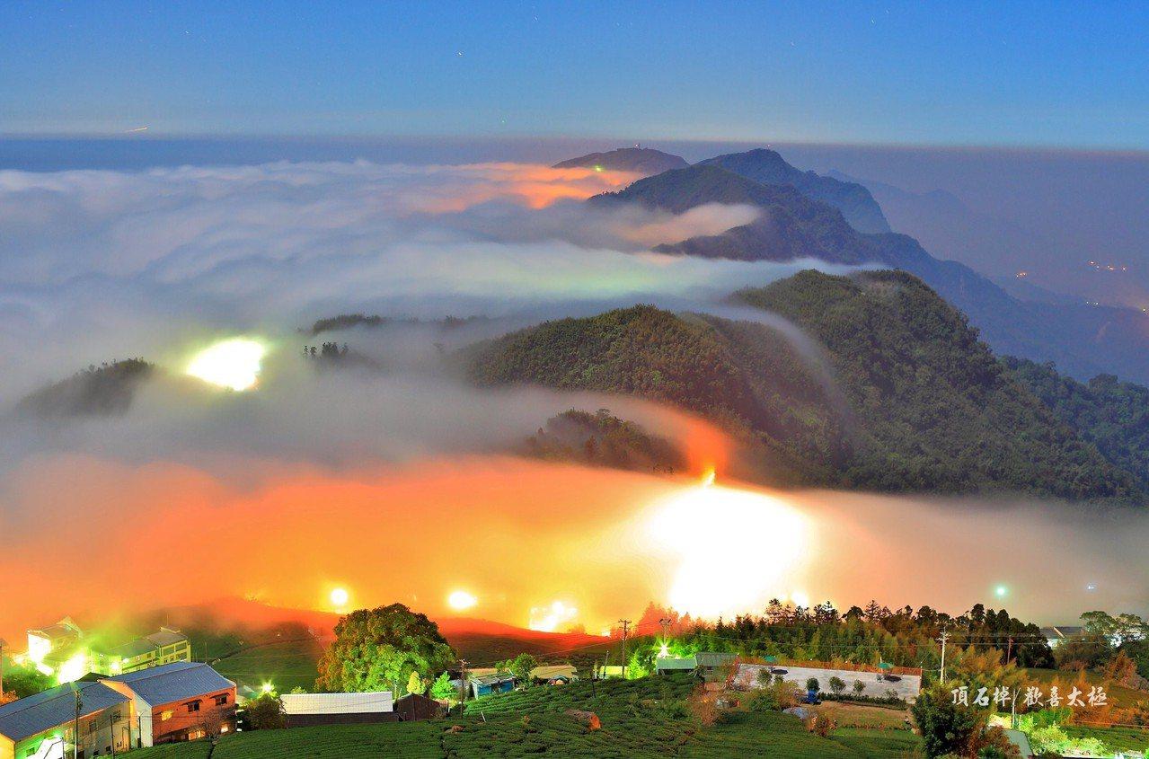王輝松直言,退休才有更多時間可以守在山區,拍隙頂雲瀑、琉璃光美景。圖/王輝松提供