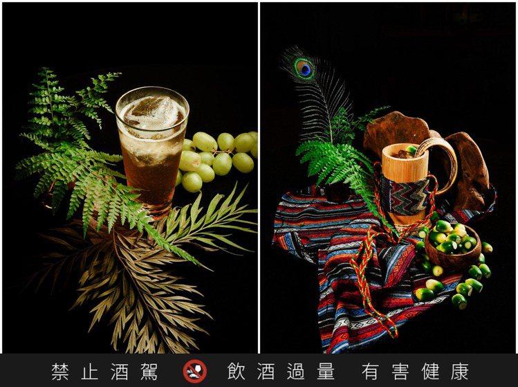 「Havis Amanda(左)」是以芬蘭傳統飲品與勞動節為發想,並加入麝香葡萄...