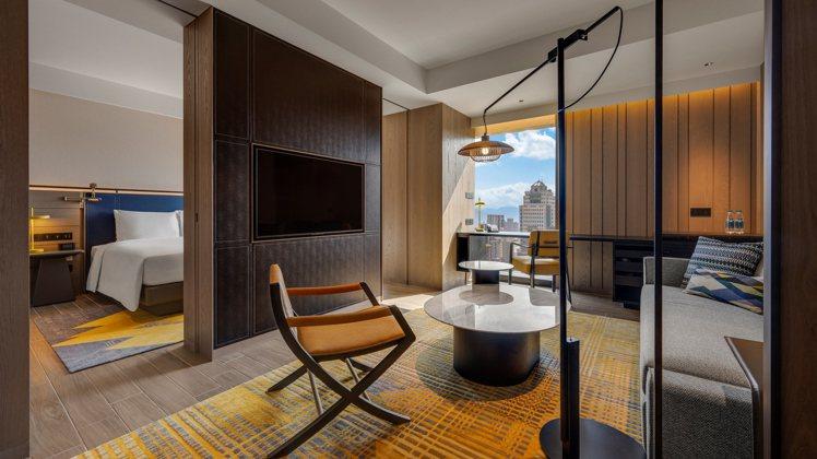 台北時代寓所有6種房型,圖為時代套房。圖/台北時代寓所提供