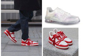 LV對抗愛滋聯名運動鞋12月上市 未來感時髦透明款超炫