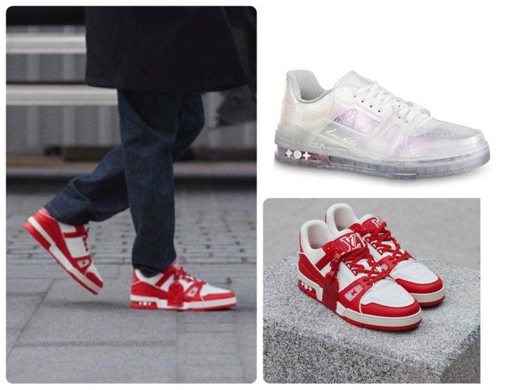 路易威登推出對抗愛滋的聯名LV Trainer I (RED)運動鞋與Train...